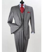 Apollo King Men's Wool Feel 3 Piece Fashion Suit - 2 Button