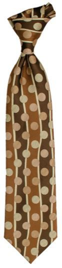 Karl Knox Classic Printed Tie - Polka Dots and Stripes