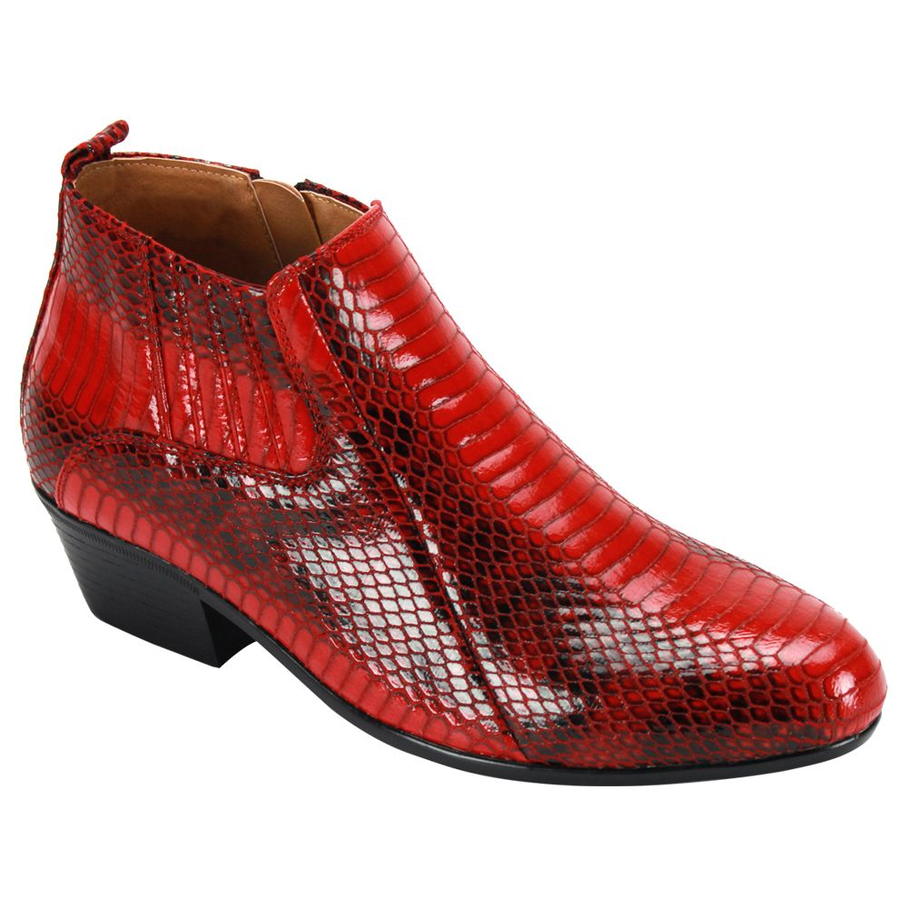 Antonio Cerrelli Men's Varied Print Ankle Boot - Fashion Patterns