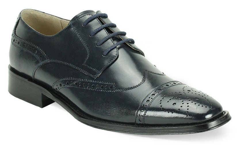 Giovanni Men's Leather Dress Shoe - Varied Perforations