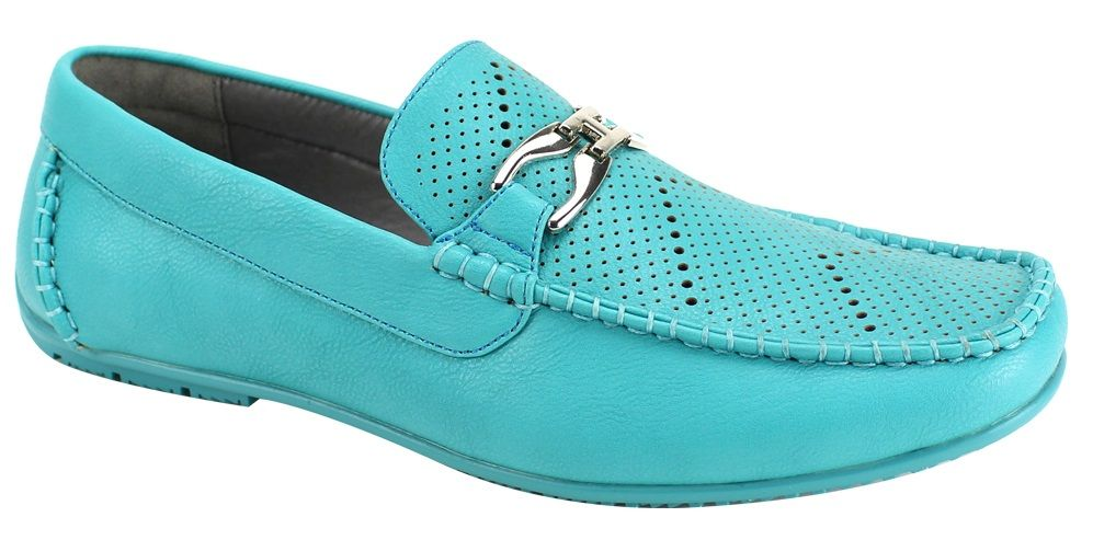 Roberto Chillini Men's Casual Dress Loafer - Perforated Designs