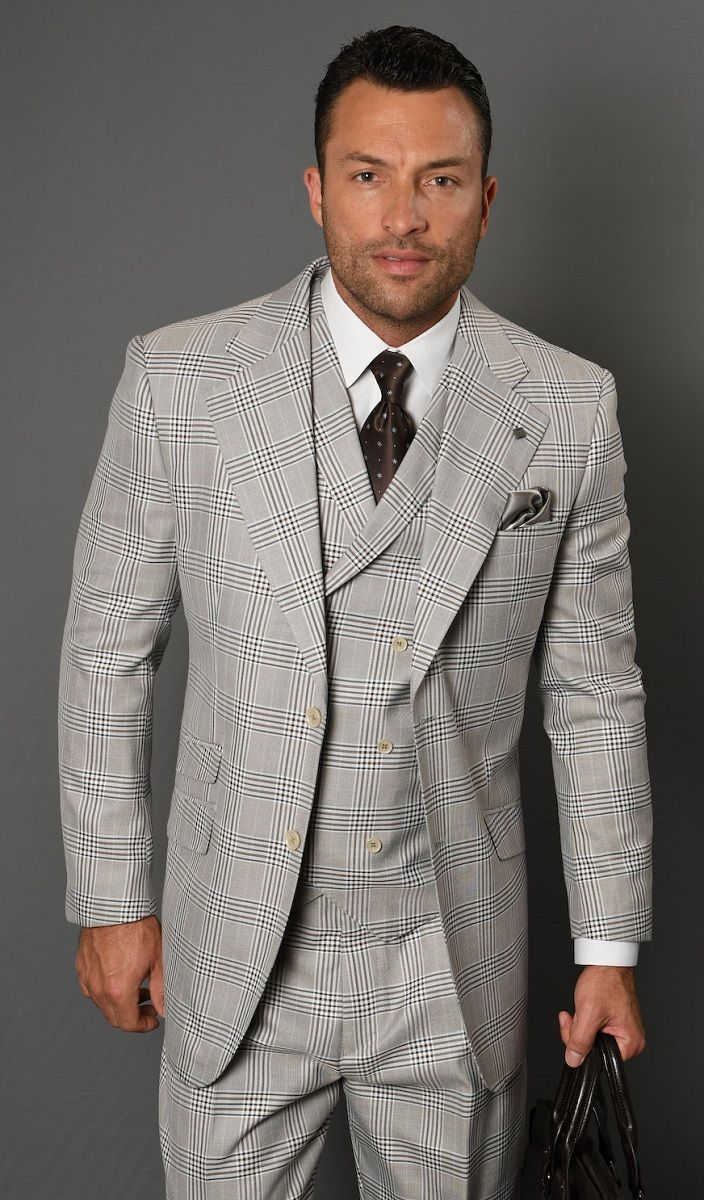 Statement Men's 3 Piece 100% Wool Suit - Professional