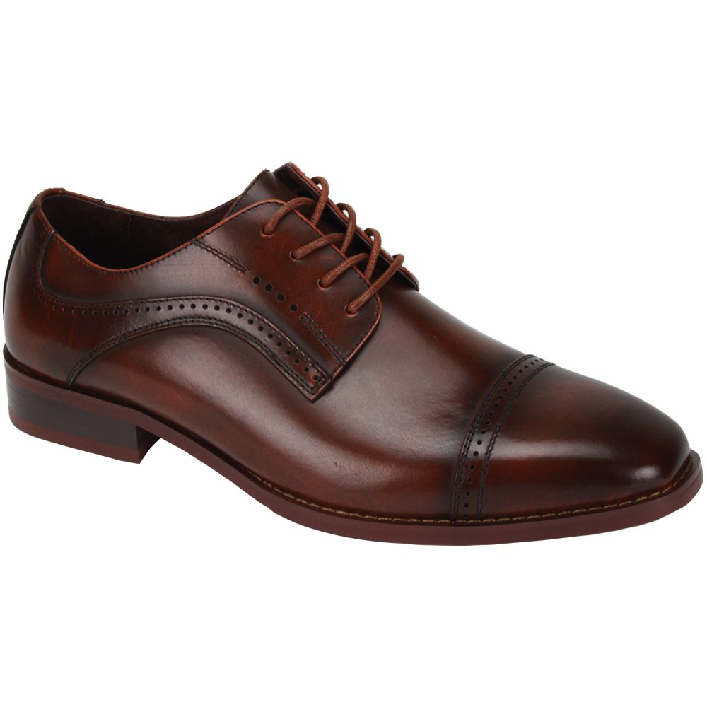 Giorgio Venturi Men's Leather Dress Shoe - Wide Width Classic