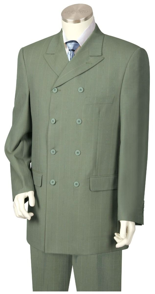 Canto Men's Outlet 3 Piece Double Breasted Fashion Suit - 8 Button