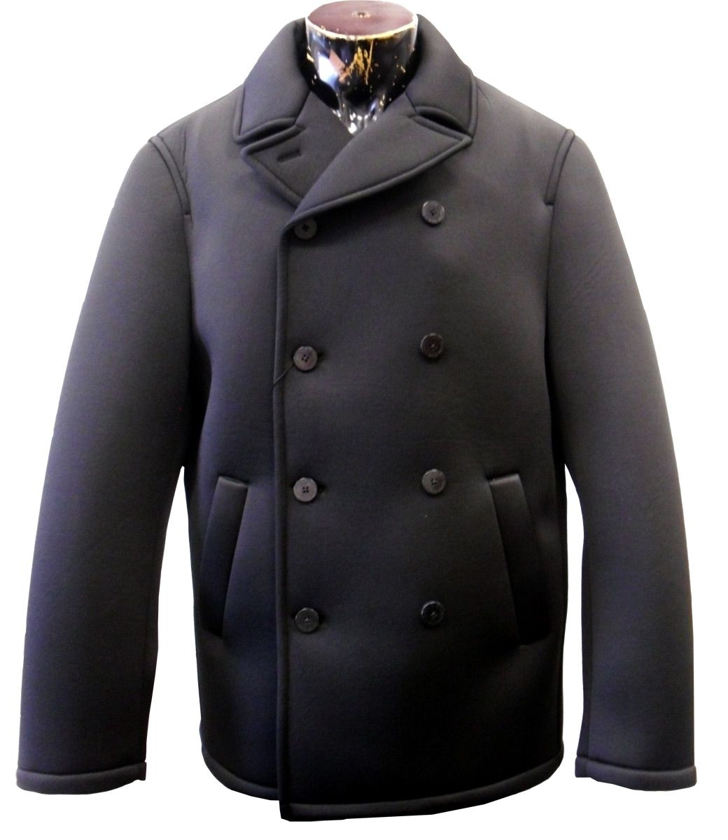 Silversilk Men's Double Breasted Outlet Pea Coat - All Weather