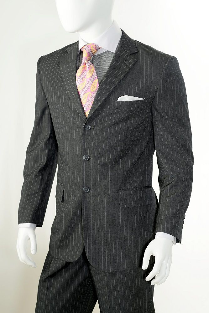 Vittorio St Angelo Men's 2 Piece Outlet Suit - Adjustable Waistband