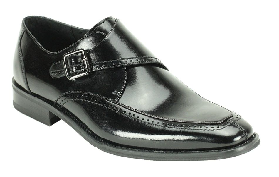 Giovanni Men's Leather Dress Shoe - Fashion Buckle Strap