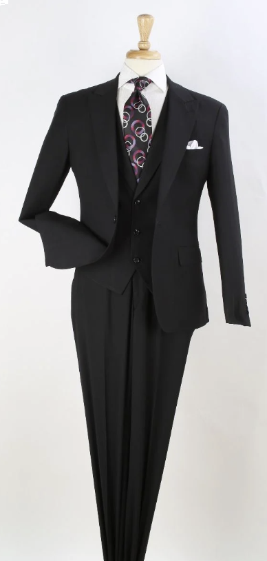 Royal Diamond Men's Outlet 3 Piece Slim Fit Fashion Suit - Peak Lapels