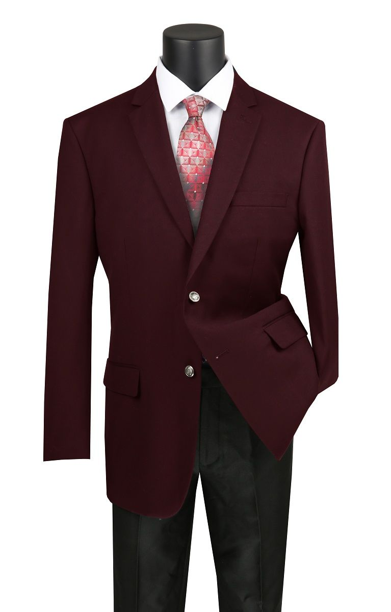 Vinci Men's Executive Sport Coat - Classic Business Coat