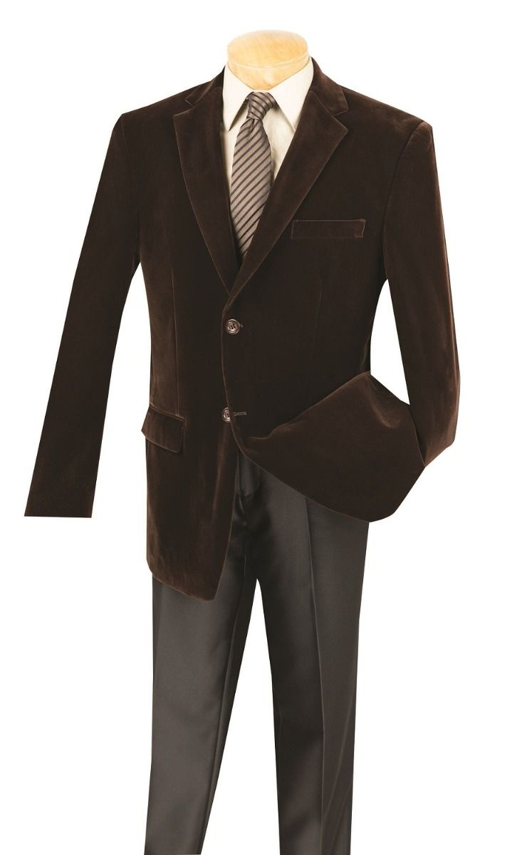 Vinci Men's Luxurious Velvet Sport Coat - Classic Fashion