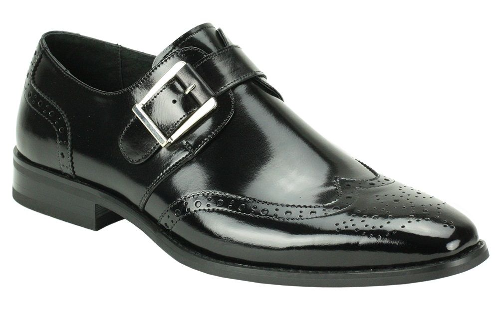 Giovanni Men's Leather Dress Shoe - Wing Tip w/ Buckle