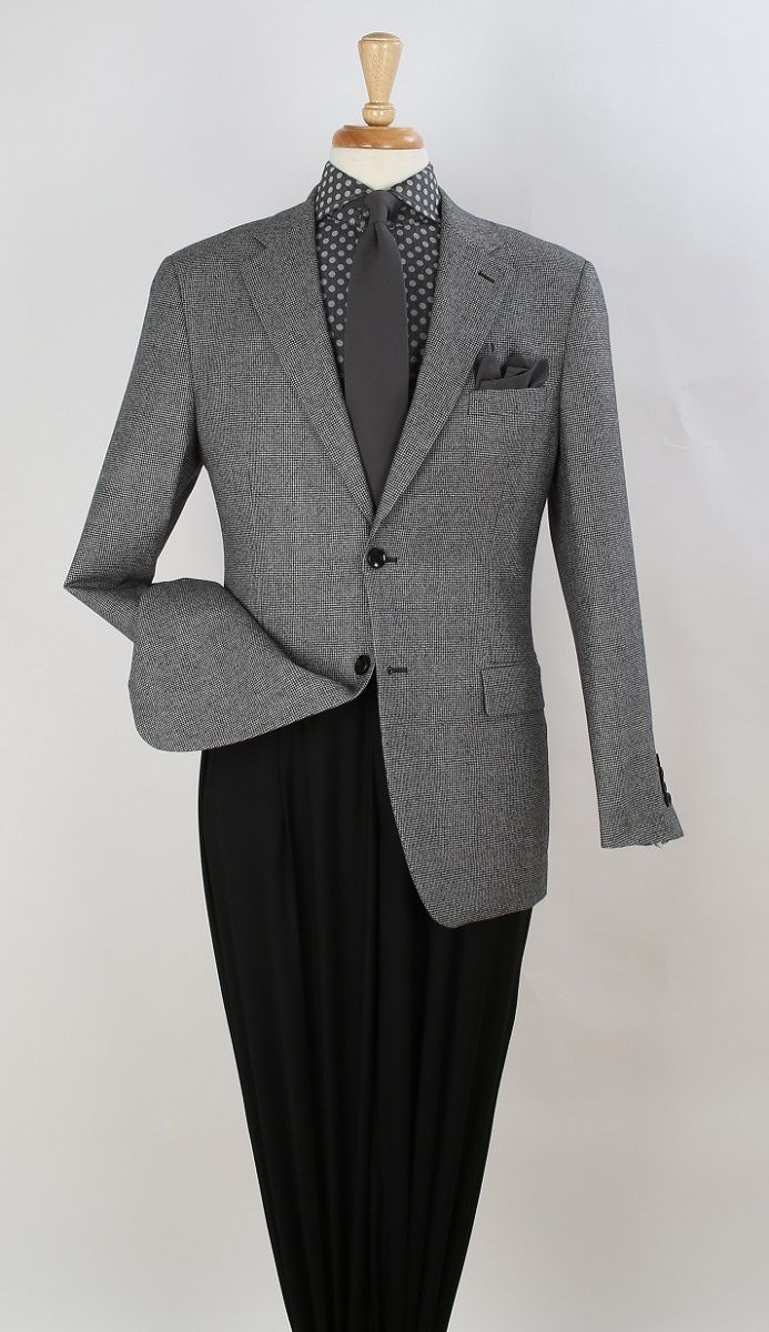 Apollo King Men's 100% Wool Sport Coat - Single Breasted