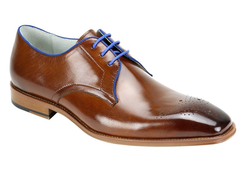 Giovanni Men's Leather Outlet Dress Shoe - Color Accent Laces