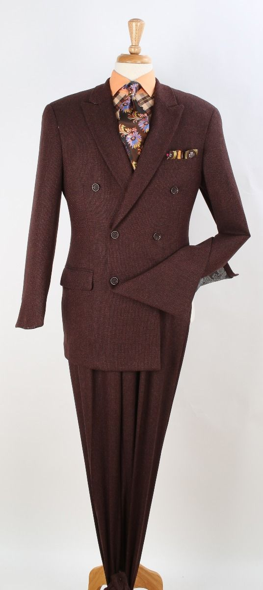 Apollo King Men's Wool Double Breasted Suit - Fashion Patterns