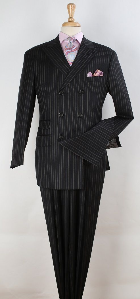Apollo King Men's 3pc Double Breasted Suit -  Business Fashion