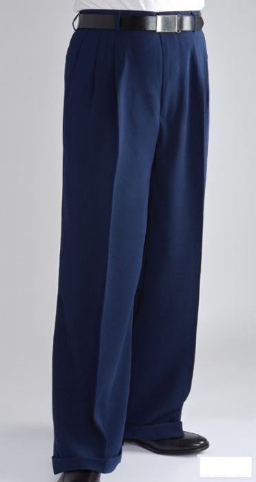 Daniel Ellissa Men's Wide Leg Pants - Double Pleated