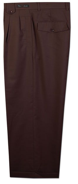 Daniel Ellissa Men's Outlet Wide Leg Pants - Boxed Pleated