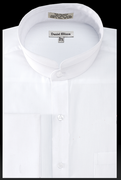 Daniel Ellissa Men's Solid Banded French Cuff Outlet Dress Shirt