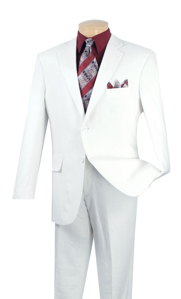 Vinci Men's 2 Piece Executive Outlet Suit - Linen and Cotton