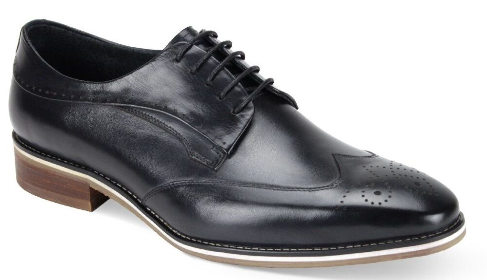 Giovanni Men's Leather Dress Shoe - Fashionable Wing Tip