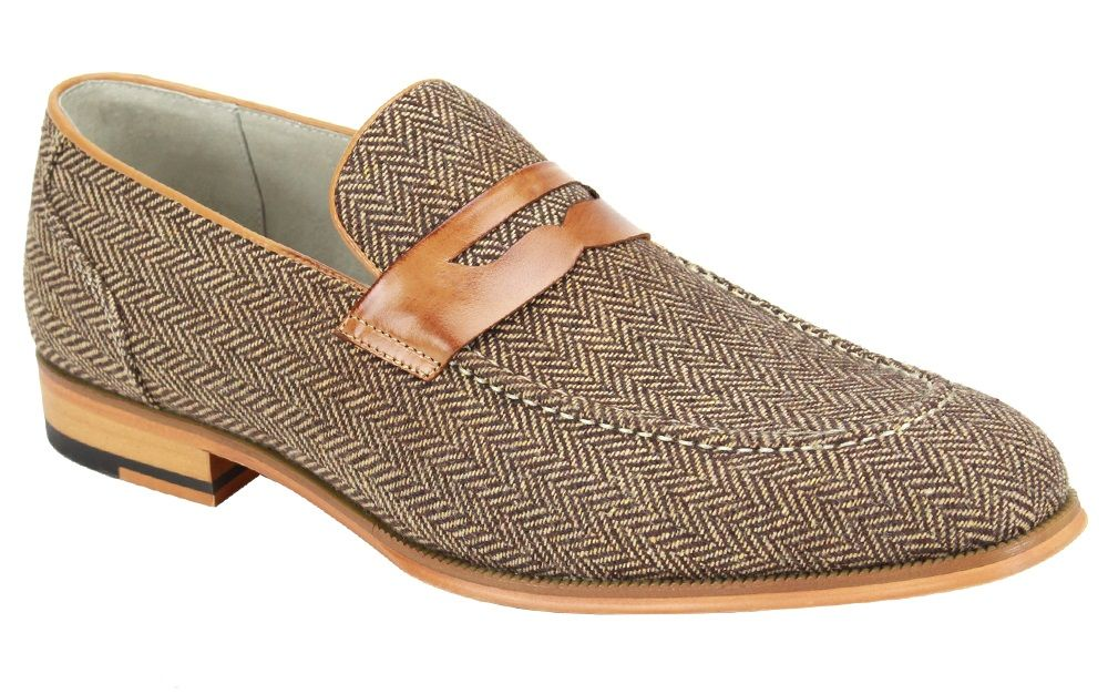 Giovanni Men's Wool Tweed Dress Loafer - Unique Fashion