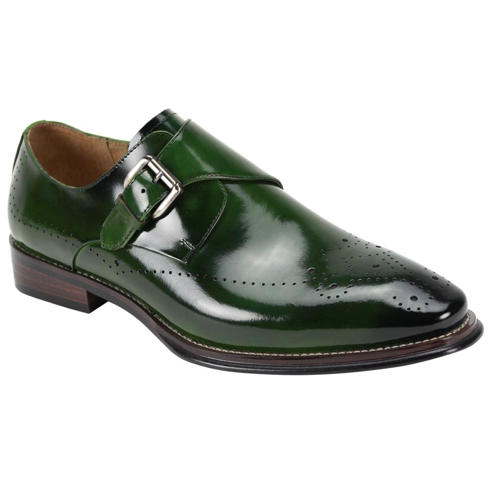 Giovanni Men's Outlet Leather Dress Shoe - Sleek Buckle