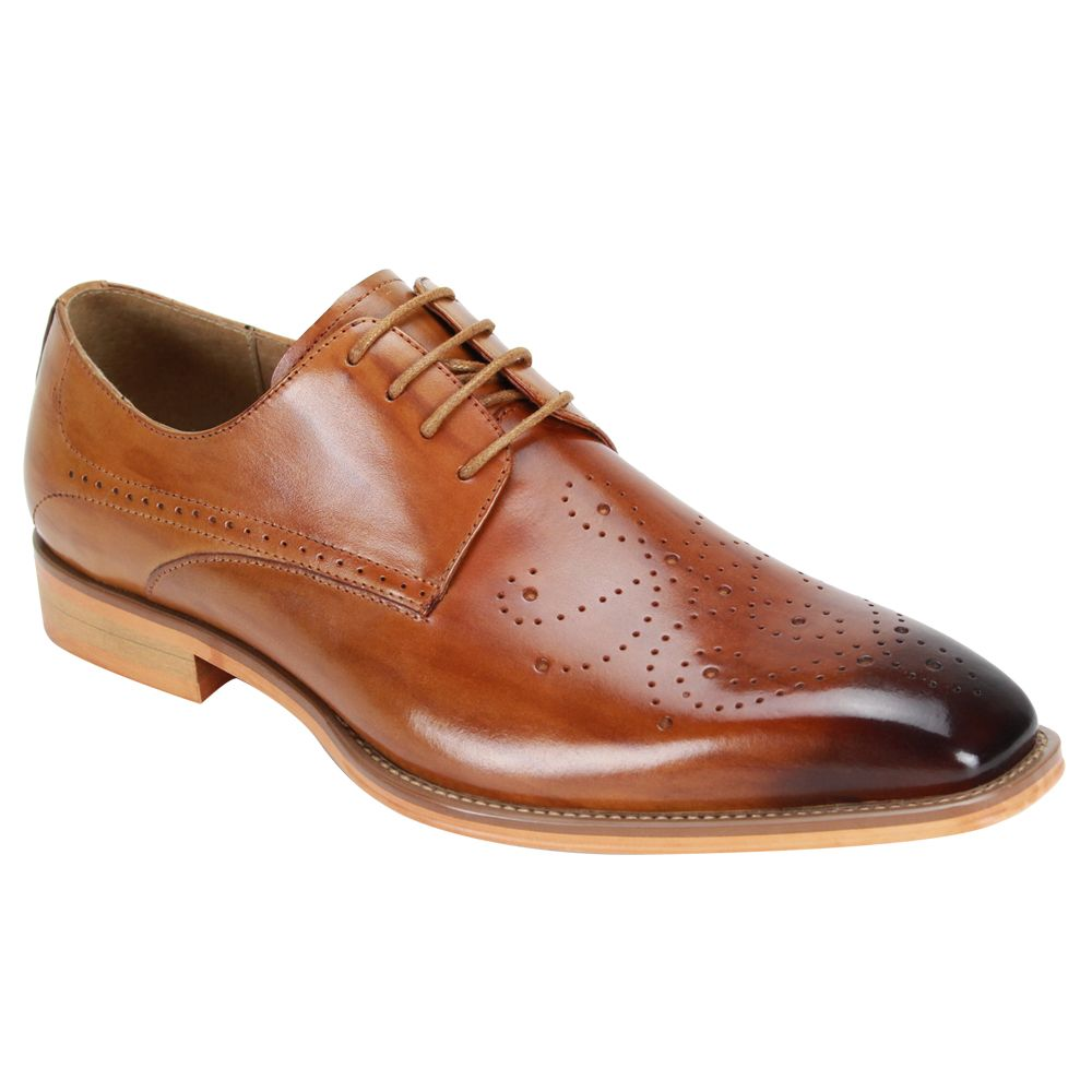 Giovanni Men's Leather Dress Shoe - Perforated Pattern