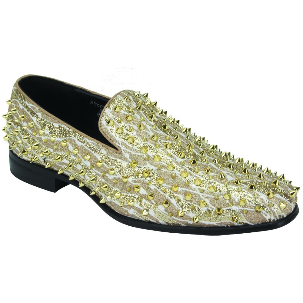 After Midnight Men's Fashion Dress Shoes - Wavy Spikes