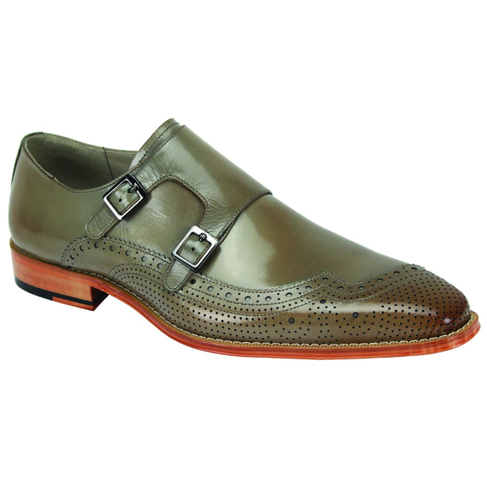 Giovanni Men's Leather Dress Shoe - Fully Perforated Wave