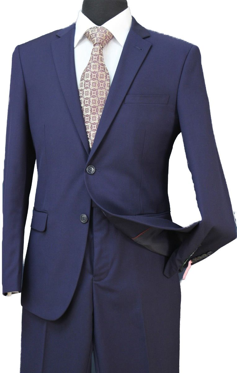 Loriano Men's 2 Piece Regular Fit Executive Outlet Suit - Classic Style