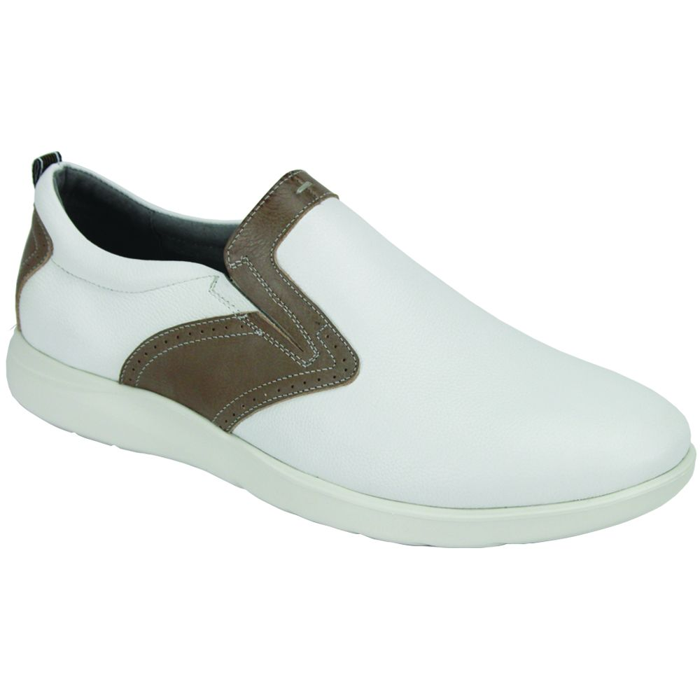 Giovanni Men's Leather Athleisure Shoe - Slip On Style