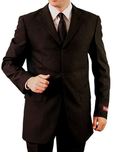 Tazio Men's 2 Piece Outlet Suit - Subtle Tone on Tone Stripe