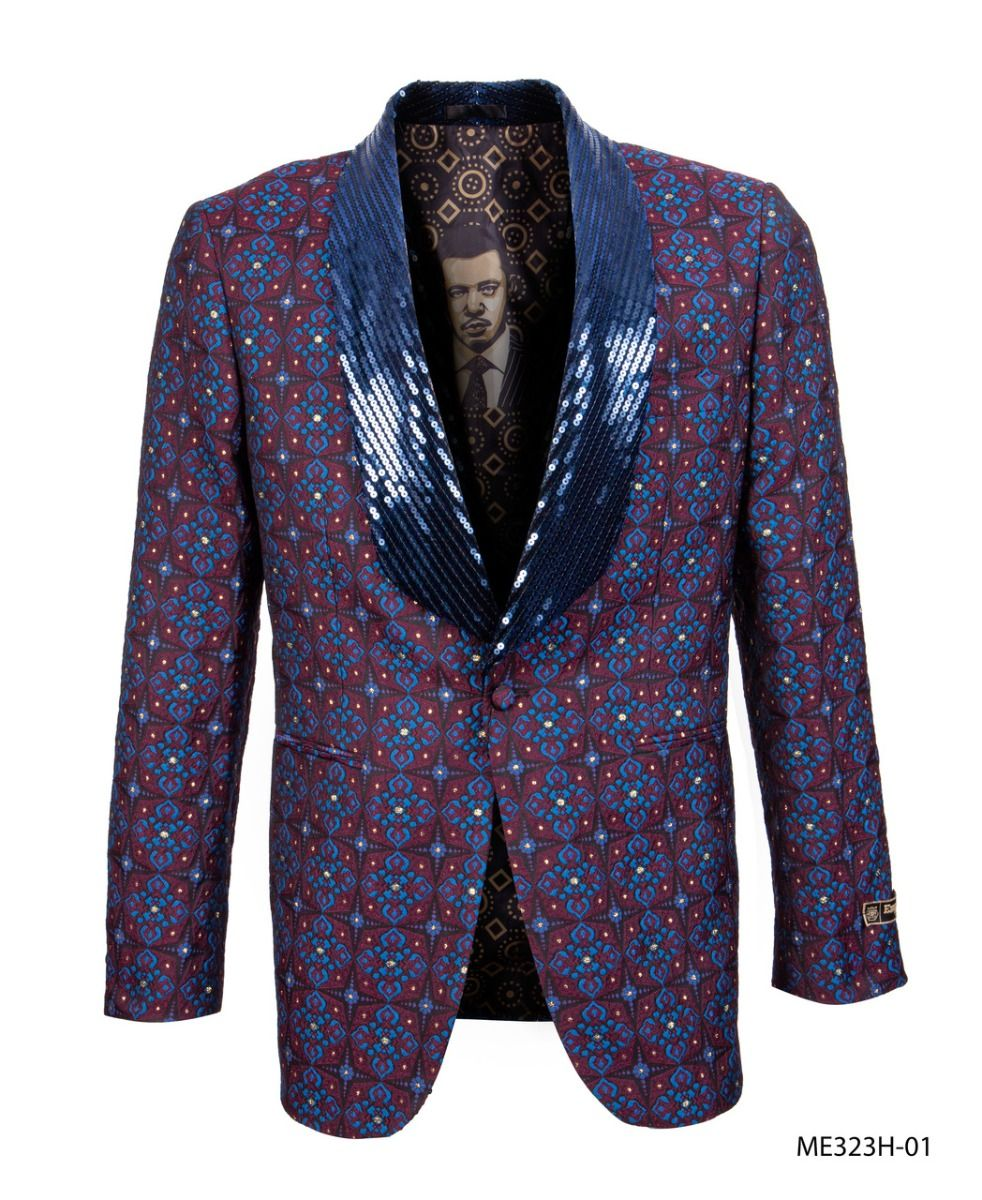 Empire Men's Luxurious Sport Coat - Sequin Collar