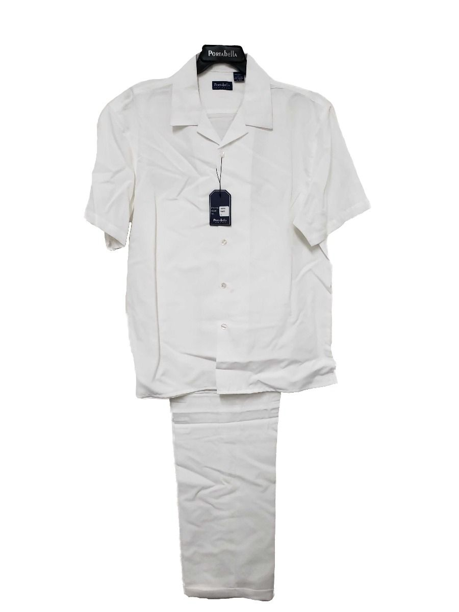 Portabella Men's 2 Piece Short Sleeve Walking Suit - Light Colors