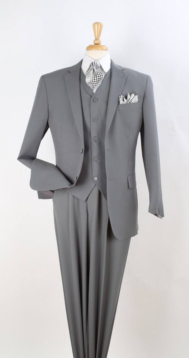 Royal Diamond Men's 3pc Discount Fashion Suit - Sleek Business