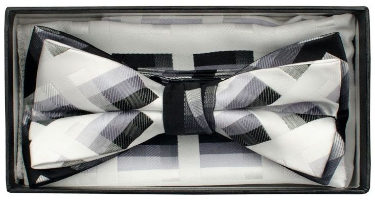 Karl Knox Men's Square End Bow Tie Set - Geometric Patterns