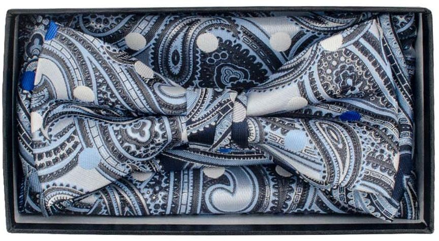 Karl Knox Men's Square End Bow Tie Set - Exotic and Bold