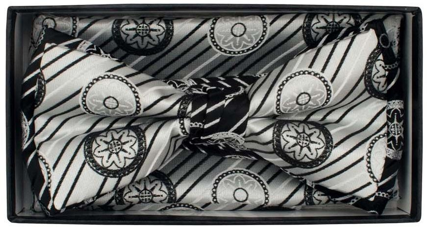 Karl Knox Men's Square End Bow Tie Set - Striped and Patterned