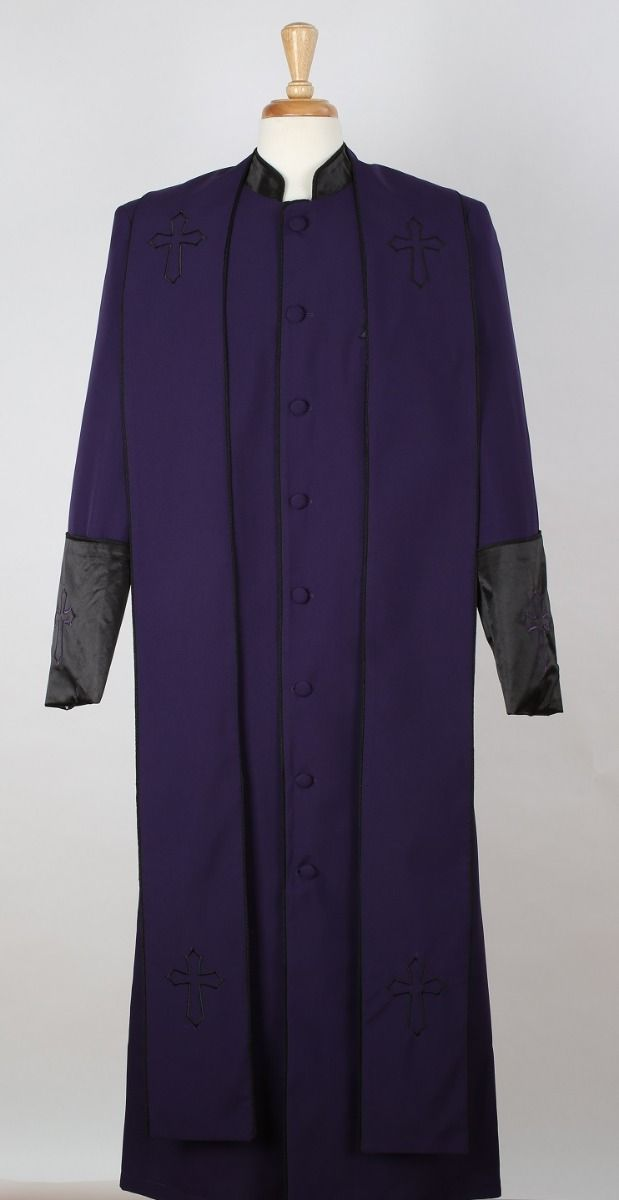 Tony Blake Men's Church Robe with Stole - Pastor Church Robe