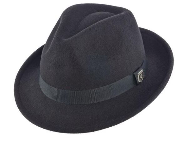 Stacy Adams Men's Fedora Style Dress Hat - Fashion Solid Style