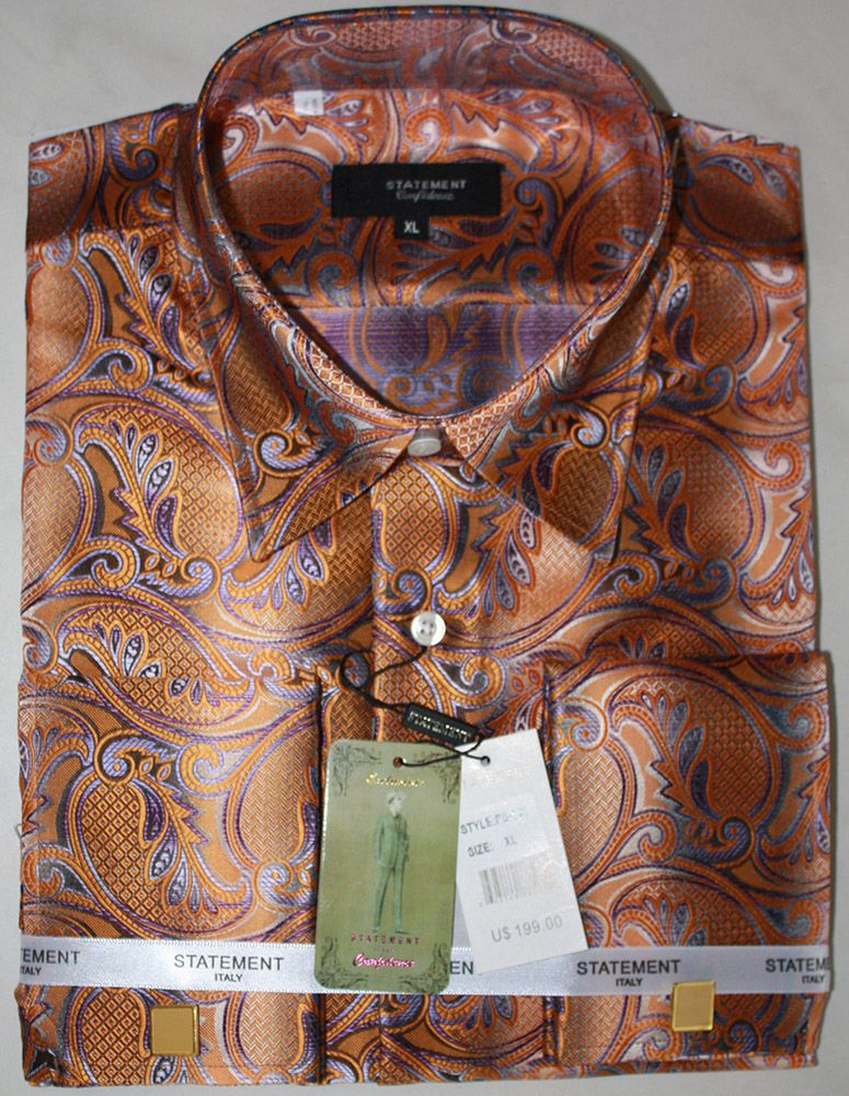 Statement Men's Long Sleeve Woven Fashion Shirt - Exotic Style