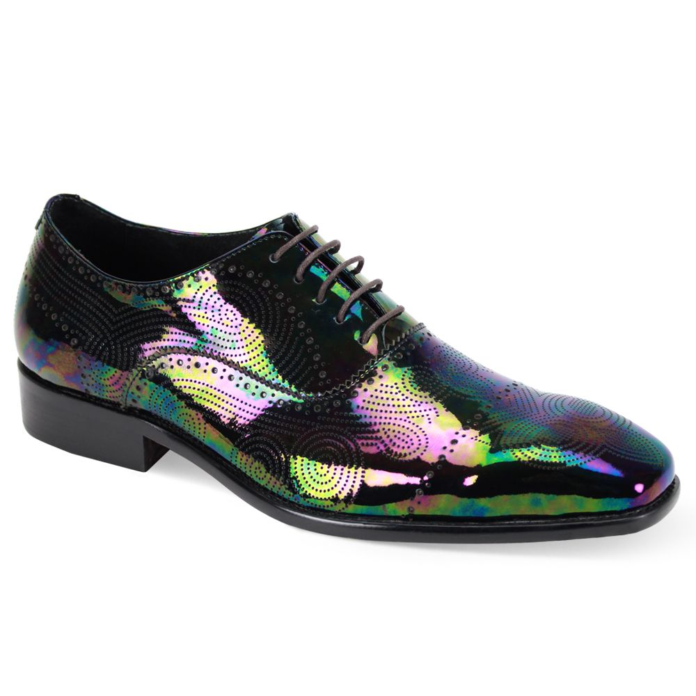 Steven Land Men's Premium Leather Dress Shoe - Reflective Colors