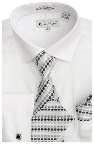 Karl Knox Men's French Cuff Shirt Set - Bold Spring Colors