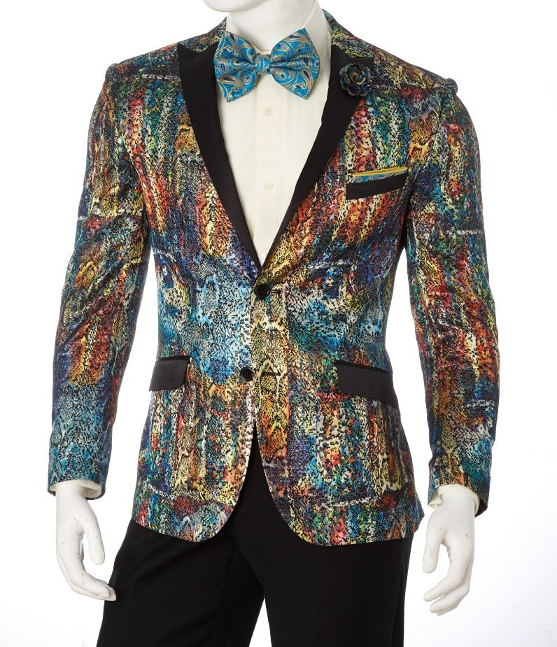 Vittorio St. Angelo Men's Slim Fit Sport Coat - Painted Abstract