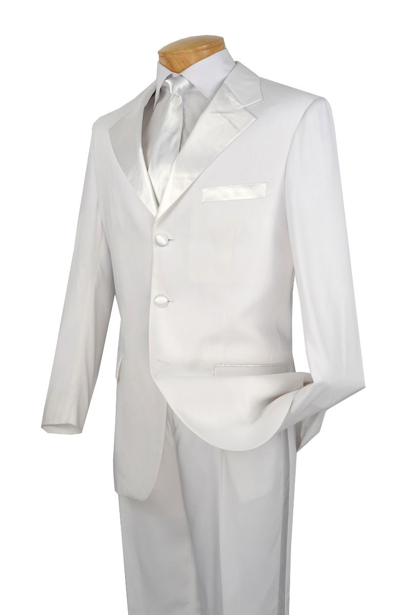 Vinci Men's Outlet 2 Piece Tuxedo - 3 Button Jacket in Microfiber