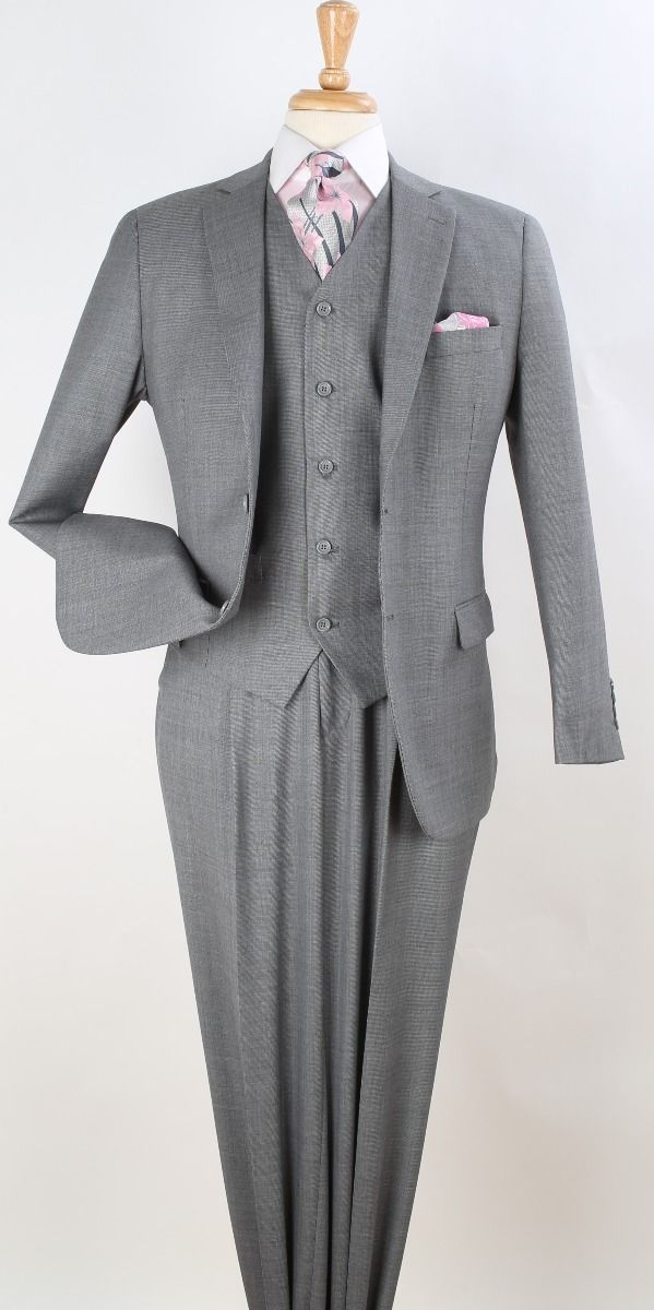 Apollo King Men's Outlet 100% Wool Suit - Classic Executive