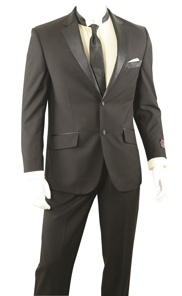 Vittorio St. Angelo Men's 2 Piece Outlet Tuxedo - Classic Fit Jacket