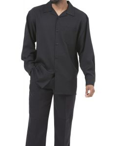 Montique Men's Big and Tall 2 Piece Long Sleeve Walking Suit - Bold Color