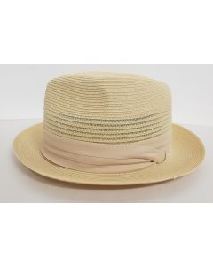 Capas Men's Fedora Style Straw Hat - Classic Pinch Front