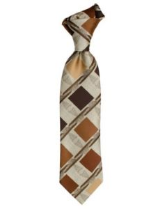 Karl Knox Classic Printed Tie - Sleek Striped Design
